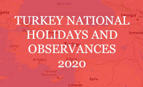 Turkey National Holidays and Observances 2020
