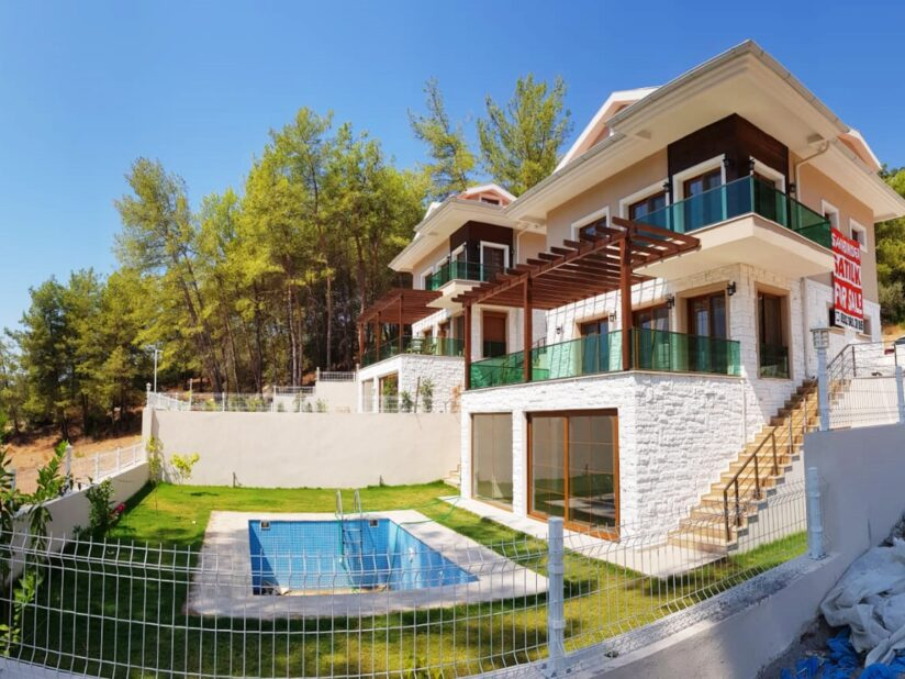 Detached Villa with Private Pool For Sale in Gocek