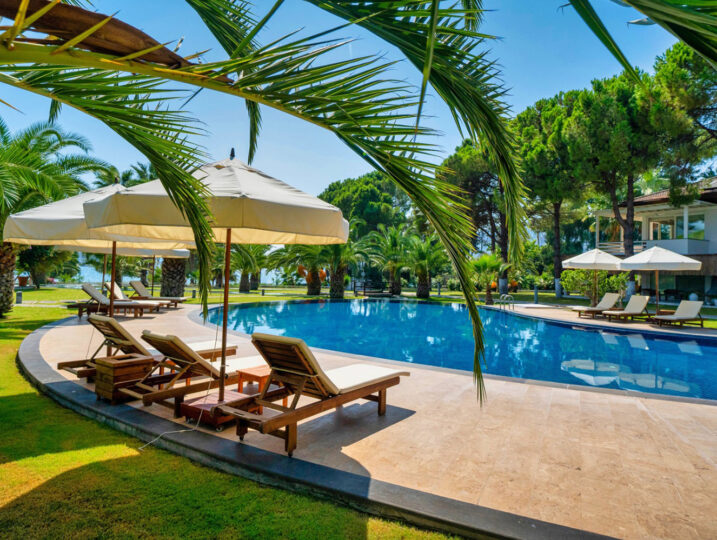 Seafront Holiday Rental With Pool in Topaz Gocek Featured