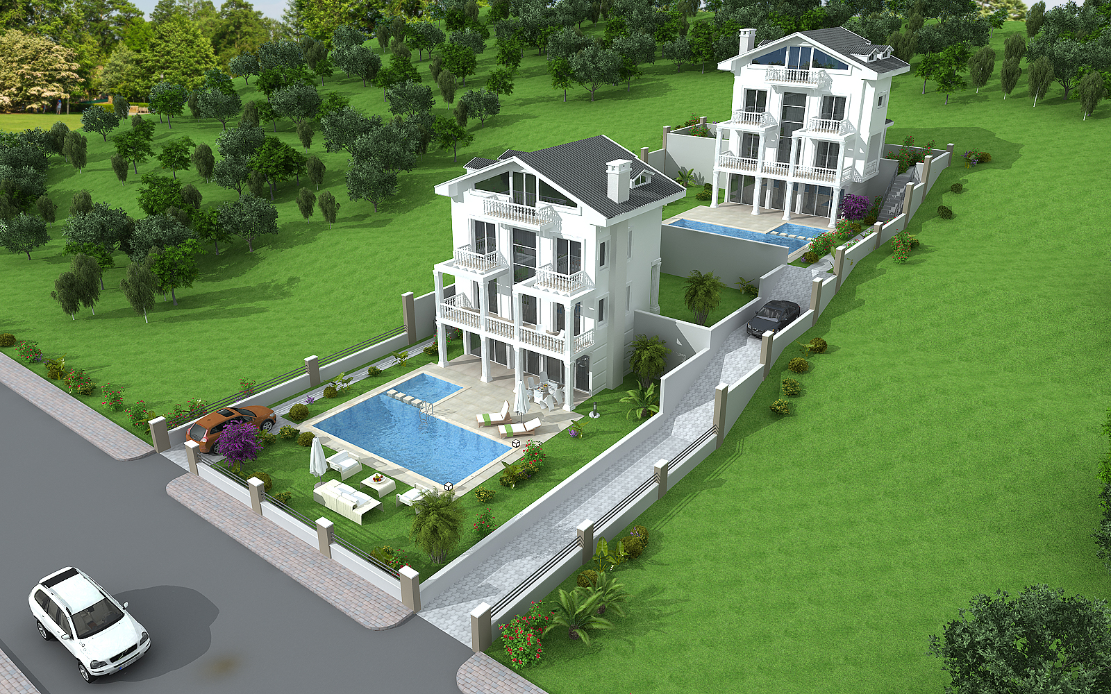 Detached Villa with Pool for Sale in Fethiye Ovacık Turkey